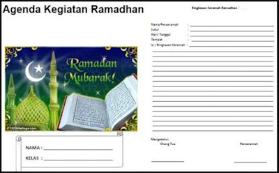 Buku Kegiatan Ramadhan Terbaru Tahun 2018 SD, SMP, SMA, SMK