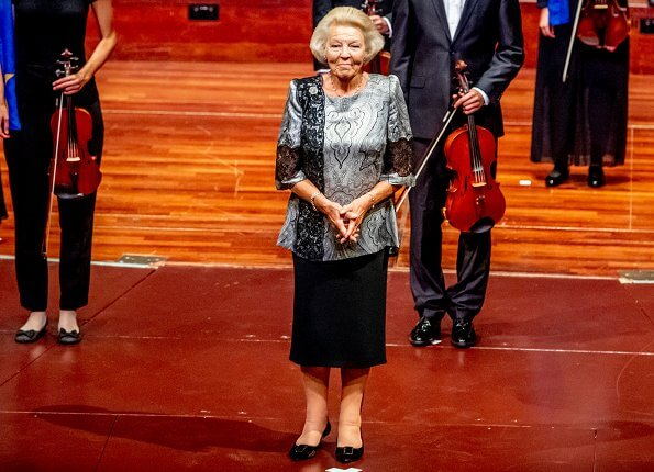 Dutch Princess Beatrix attended the concert of the European Union Youth Orchestra at the Royal Concertgebouw in Amsterdam. Queen Maxima