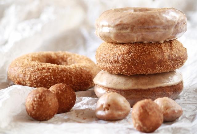 Donas de calabaza (sin levadura) / Pumpkin donuts (cake donuts)
