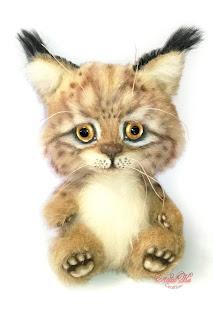 NatalKa Creations, Natalie Lachnitt, artist teddy bear, Künstlerteddy, luchs, lynx toy, artist toy