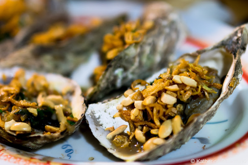 Oysters Baked with Peanuts Seafood Traditional Vietnamese Food