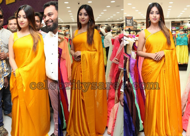 Anu Emmanuel Plain Silk Saree