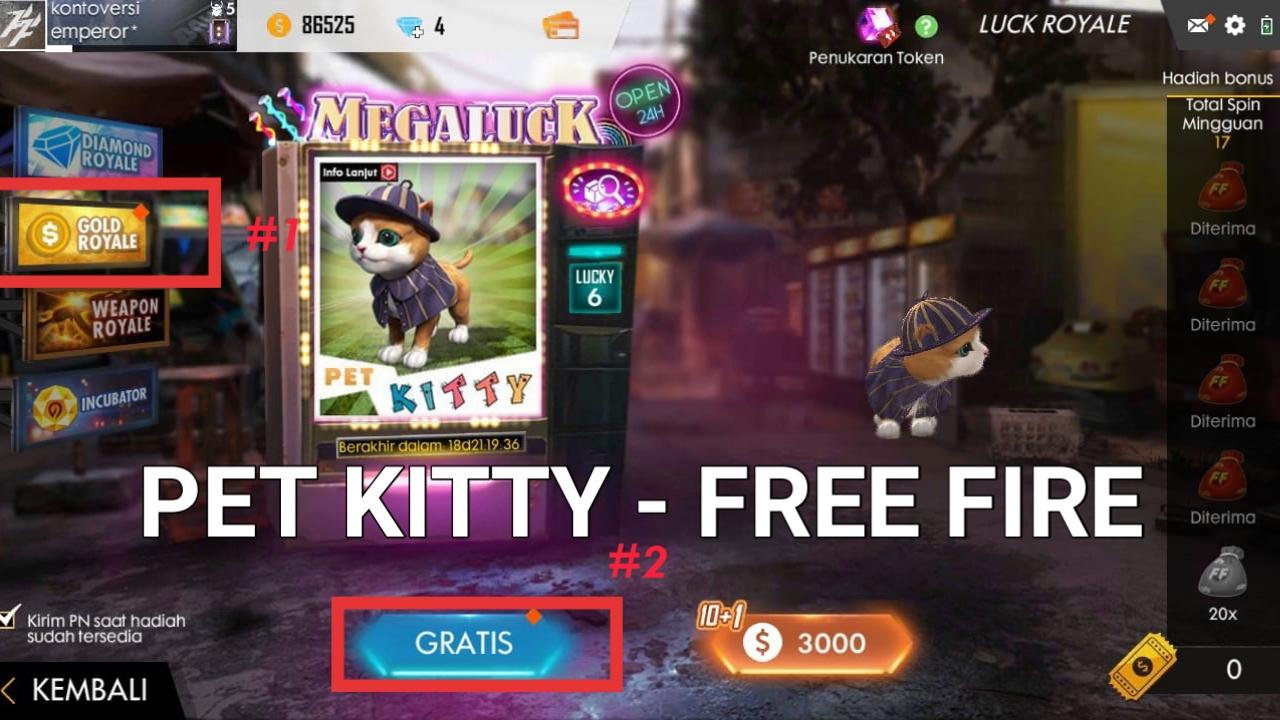 Cara Mendapatkan Pet Kitty di Free Fire
