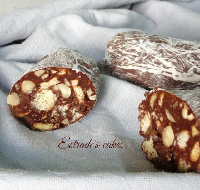 receta de salchichón de chocolate 4