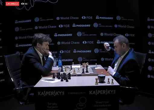Une partie explosive de la ronde 1 : Sergey Karjakin 0-1 Mamedyarov Shakhriyar