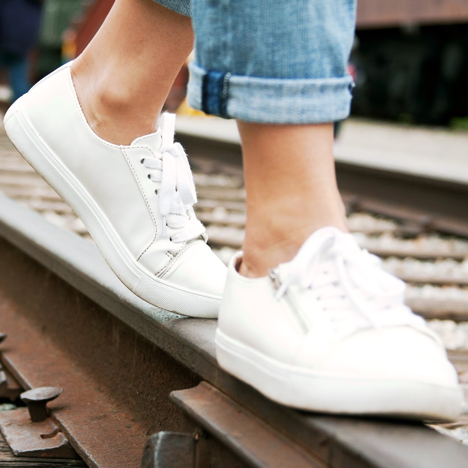 all white sneakers for summer are right on trend!