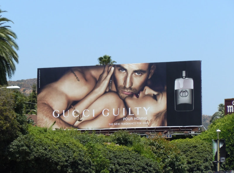 Chris Evans Gucci Guilty fragrance billboard