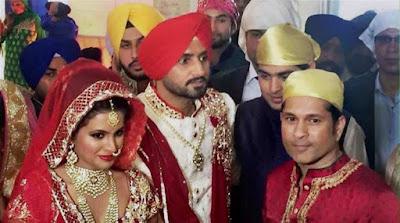 Sachin-Tendulkar-Harbhajan-Singh-with-wife-Geeta-Basra-wedding