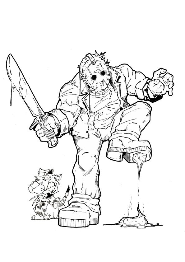 Jason Vorrheess From Part 7 - Free Coloring Pages