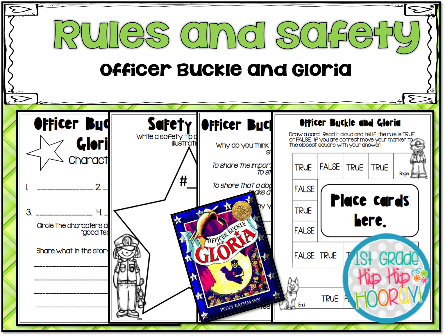 1st Grade Hip Hip Hooray Officer Buckle And Friends