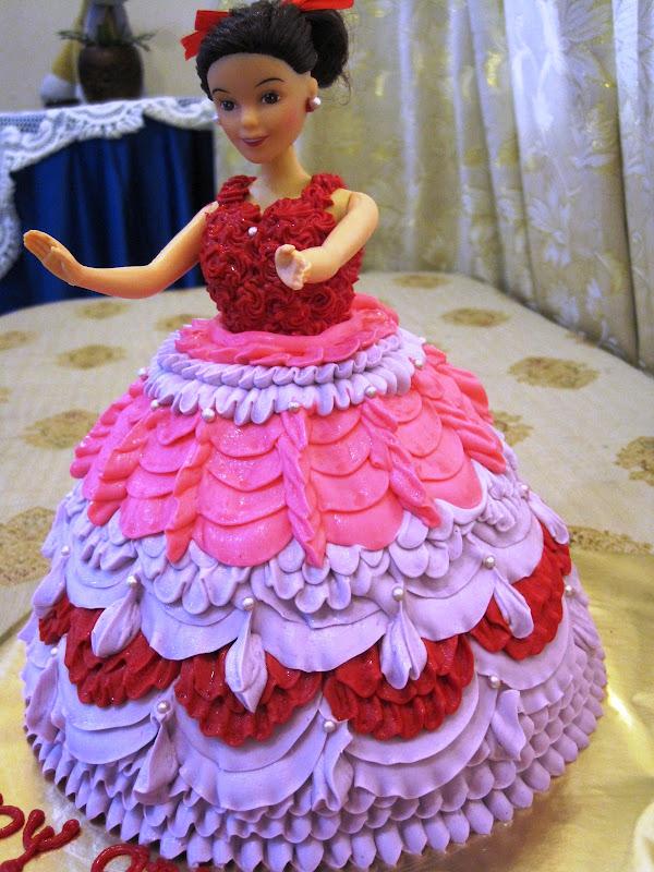 La Muffine Barbie Doll Cake Farah
