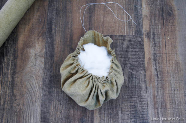 Paint and fabric come together to create the perfect rustic pumpkin - Little House of Four