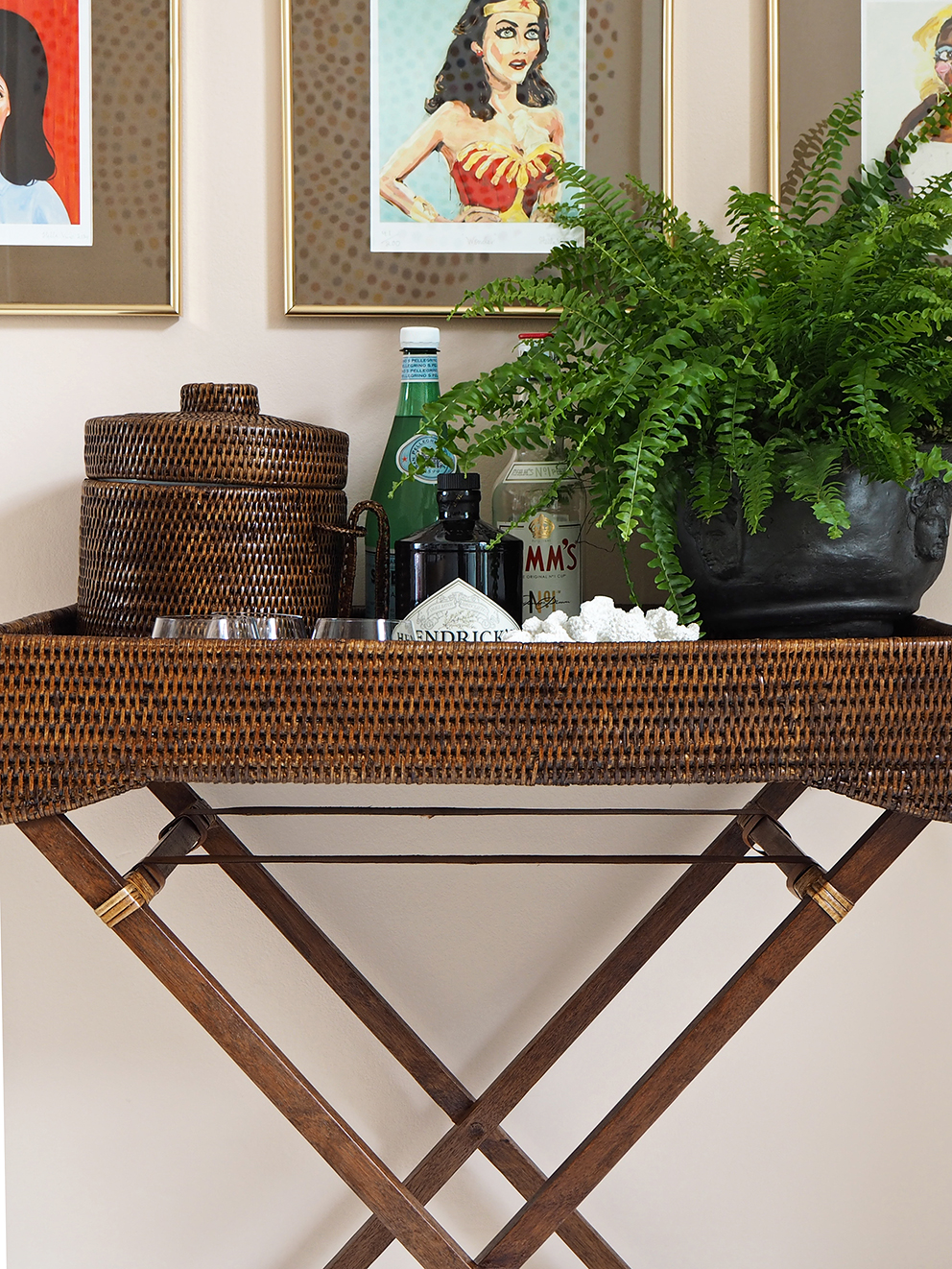 French For Pineapple Blog - Kalinko - Rattan Butlers Tray
