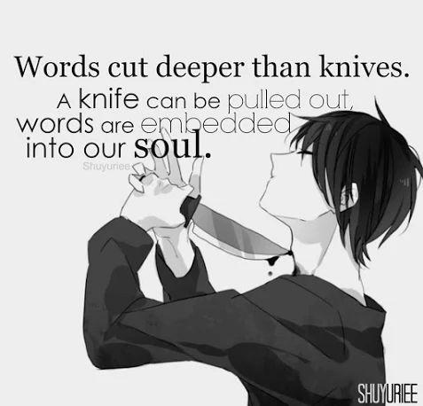 Untuk Setiap Ucapan Yang Menyakitkan Yang Kau Tujukan Pada Orang Lain, Akan Selalu Ada Hati Yang Tersakiti Yang Akan Selalu Mengingatnya Dalam Diam