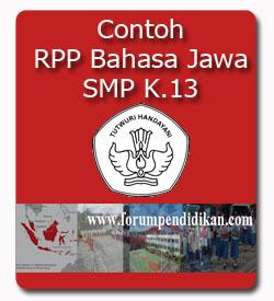 Contoh RPP Bahasa Jawa SMP, Kurikulum 2013
