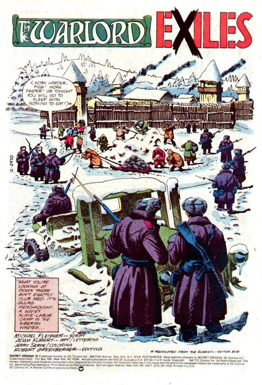 Read online Secret Origins (1986) comic -  Issue #16 - 2