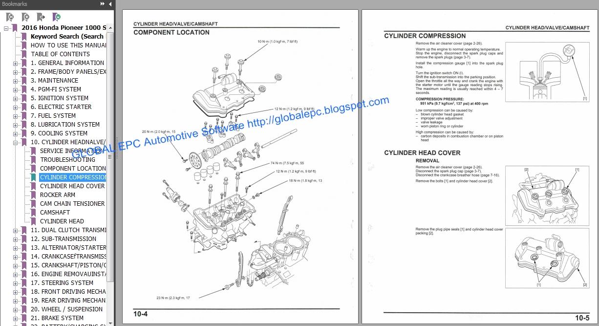 AUTO MOTO REPAIR MANUALS: HONDA PIONEER UTV 1000 SERIES