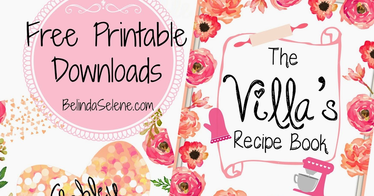 Recipe Book Cover Printable : Belindaselene free gorgeous printable covers for erin