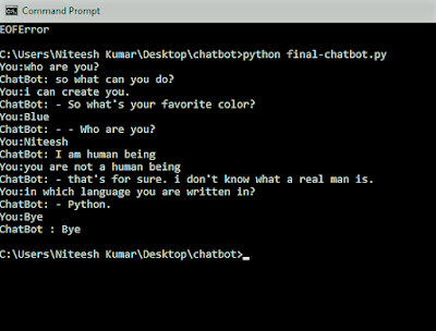 basic chatbot in Python