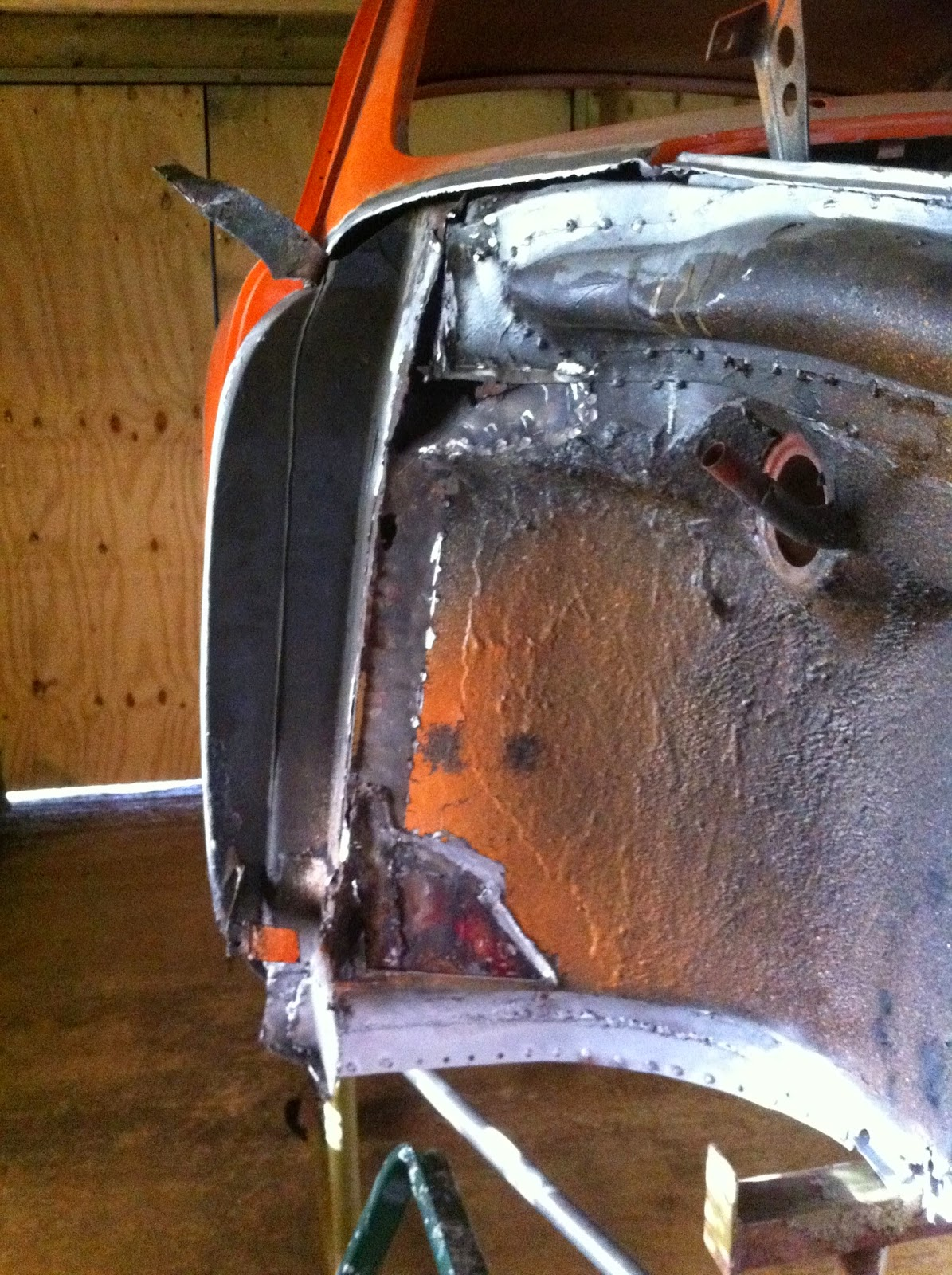 1969 Karmann Ghia Restoration Front Inner Wing Repairs