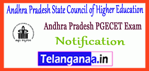 AP PGECET Andhra Pradesh State Council of Higher Education 2019 Notification Application Time Table