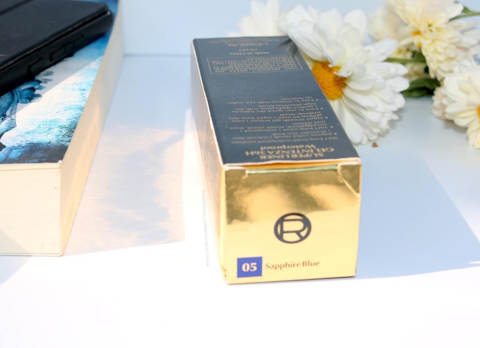 L'Oreal Super Liner Sapphire Blue Gel Intenza 36 Hours Eyeliner Review/beauty blogger/ gel eyeliner