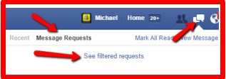 how to find other messages on facebook