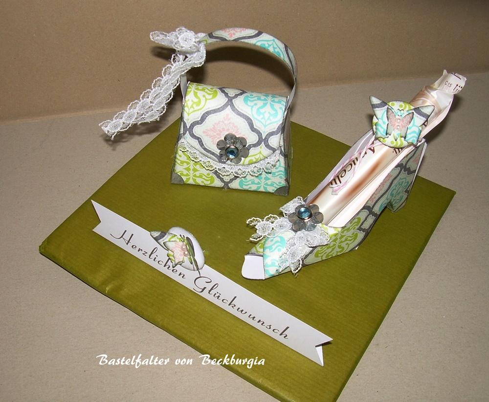 Bastelfalter von beckburgia geldgeschenke geschenke zum for Silberhochzeit deko basteln