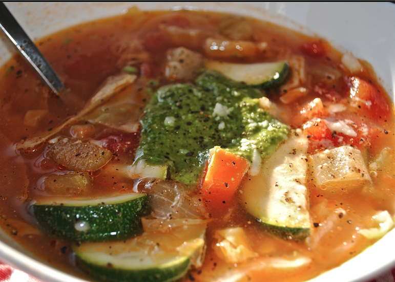 Meg Goes to Market: Minestrone with Pesto