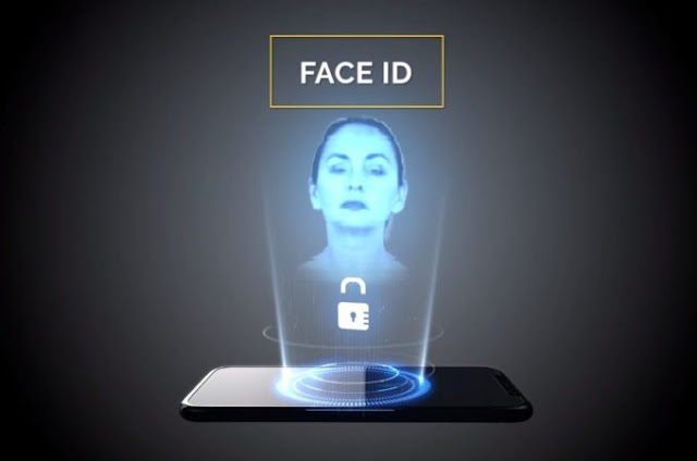 Concept iPhone XI with holographic Face ID