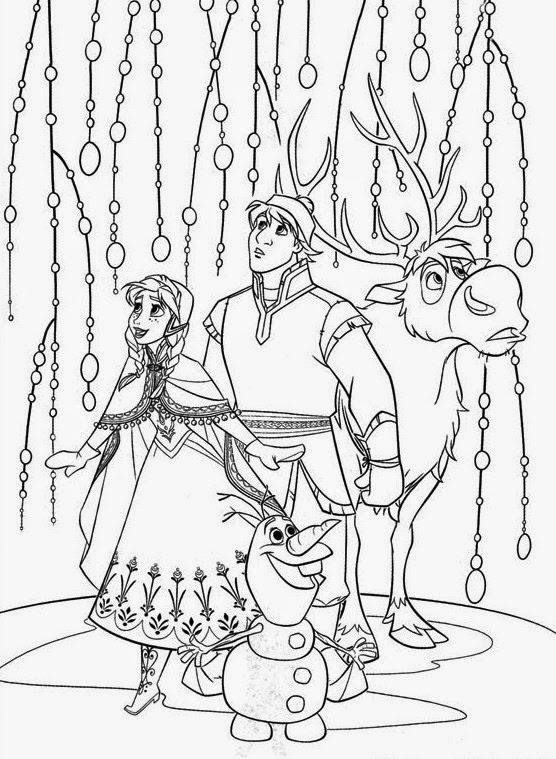 Dibujo De Los Personajes De La Pelicula Frozen Para Colorear Y