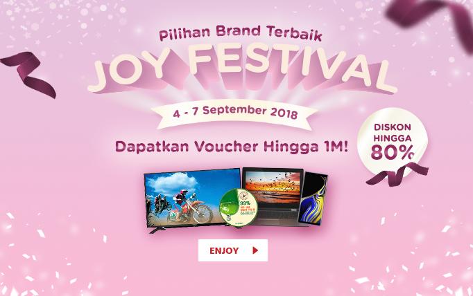 JdID - Promo Joy Festival + Diskon s.d 80% (s.d 07 Sept 2018)