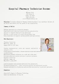Great Sample Resume Resume Samples Hospital Pharmacy Technician Resume Sample
