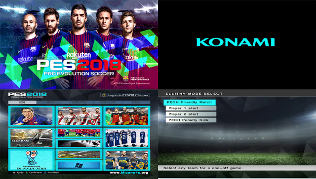 ultigamerz: PES 2018 New E_Text Graphic For PES6