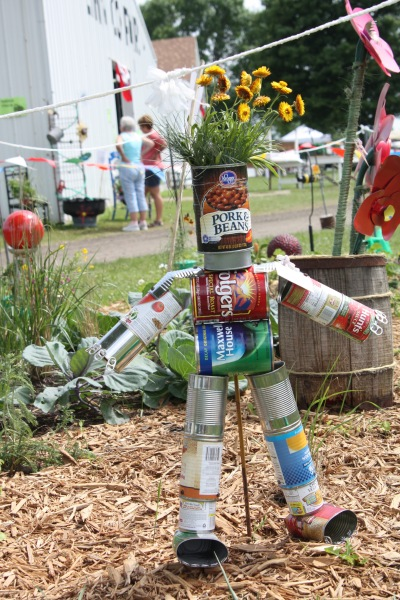 Make A Tin Can Man In Your Garden