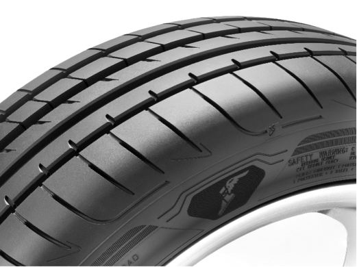 The Active Braking Technology allows the Goodyear Eagle F1 Asymmetric 3 to have greater contact surface and grip upon braking, allowing the tire to have a shorter braking distance up to 2.6 meters shorter braking distance on wet roads.