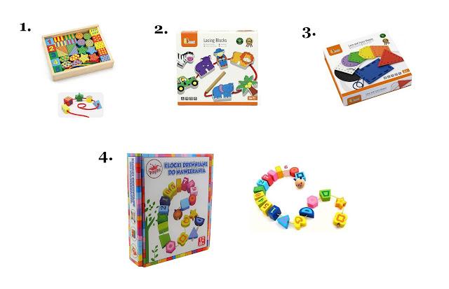 klocki do nawlekania - jakie klocki dla dziecka - prezent na Mikołajki dla dziecka - hancia.pl - zabawki dla dzieci online