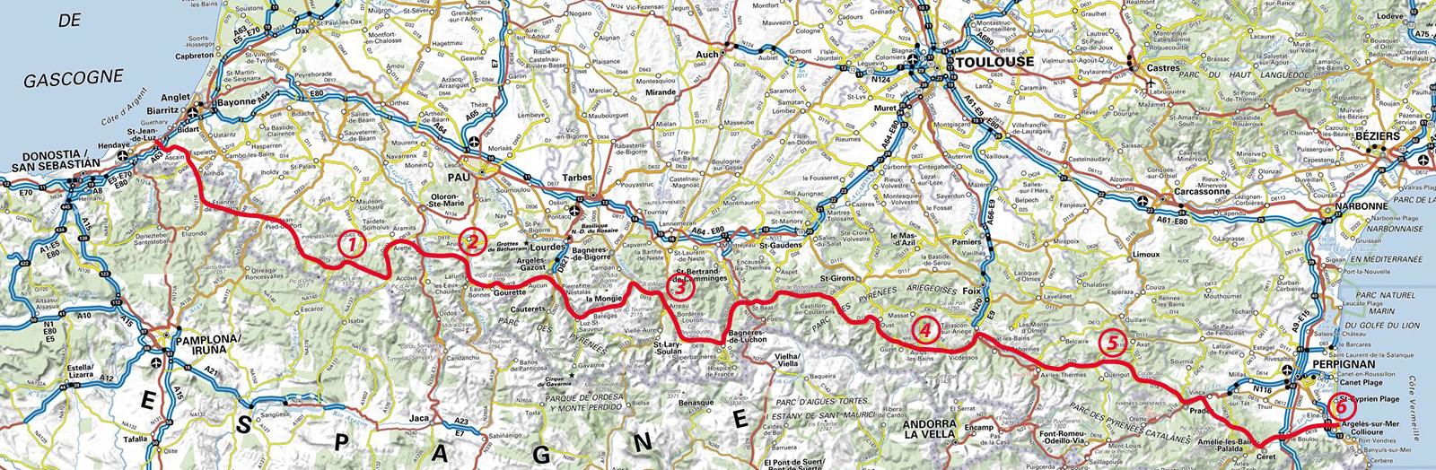 carte traversée des pyrénées à vélo Les actus en montagne et ailleurs: Traversée des Pyrénées en vélo
