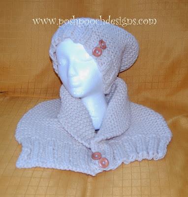 Posh pooch designs dog clothes aran chunky scarf knitting - Dog hat knitting pattern free ...