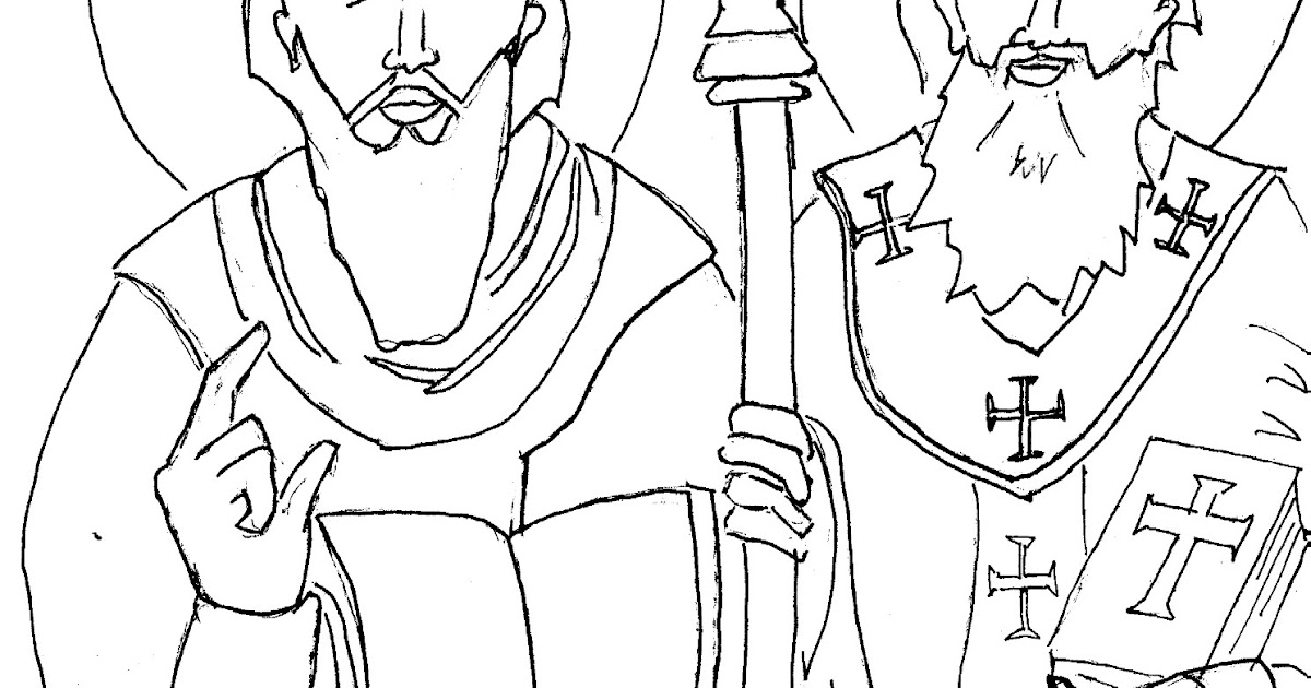 slim volume: Today's Lesser Known Saints Coloring Page