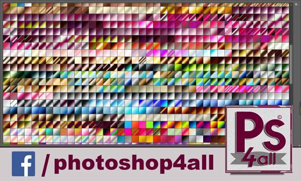 مجموعة كبيرة من التدرجات اللونية لبرنامج فوتوشوب  2021 بألوان مختلفة
