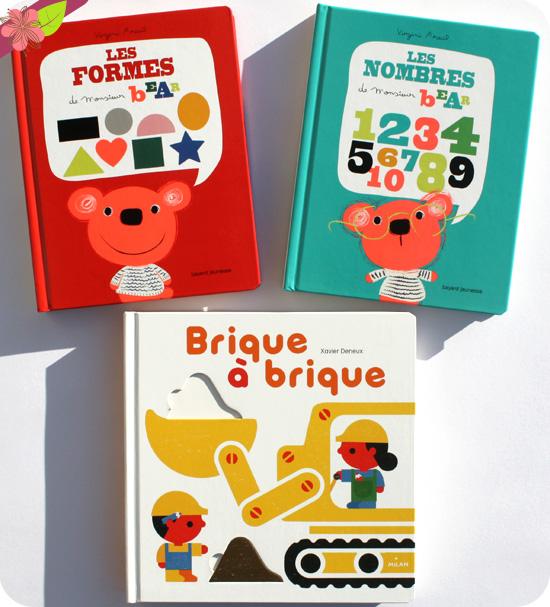 Les nombres et Les formes de Monsieur Bear de Virginie Aracil & Brique à briques de Xavier Deneux