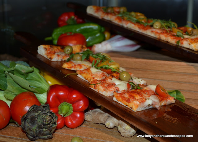 Italian dishes at Palazzo Versace Dubai