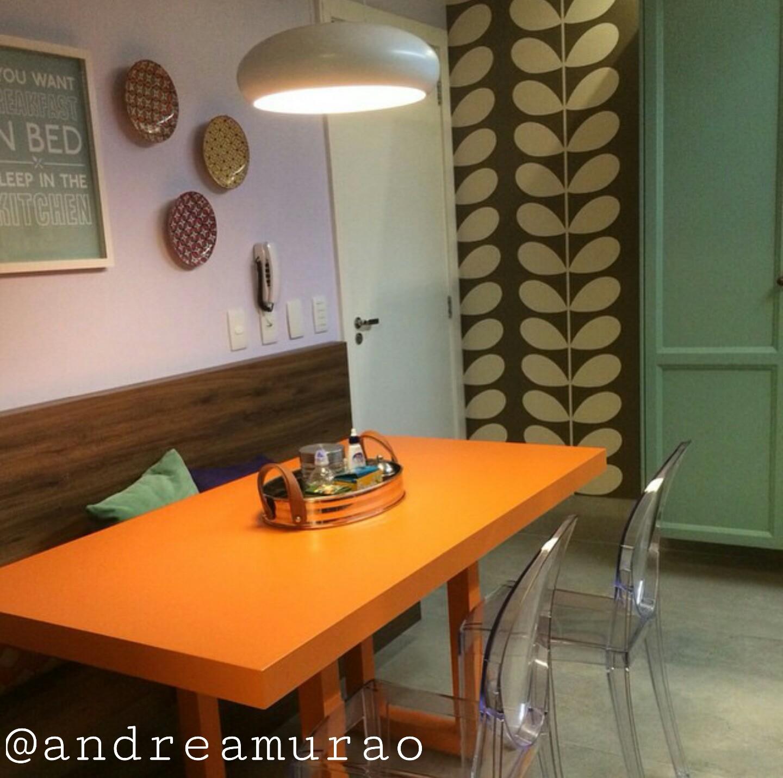 Uma Cozinha Com Mesa Colorida Estilo Canto Alemão Jeito De Casa