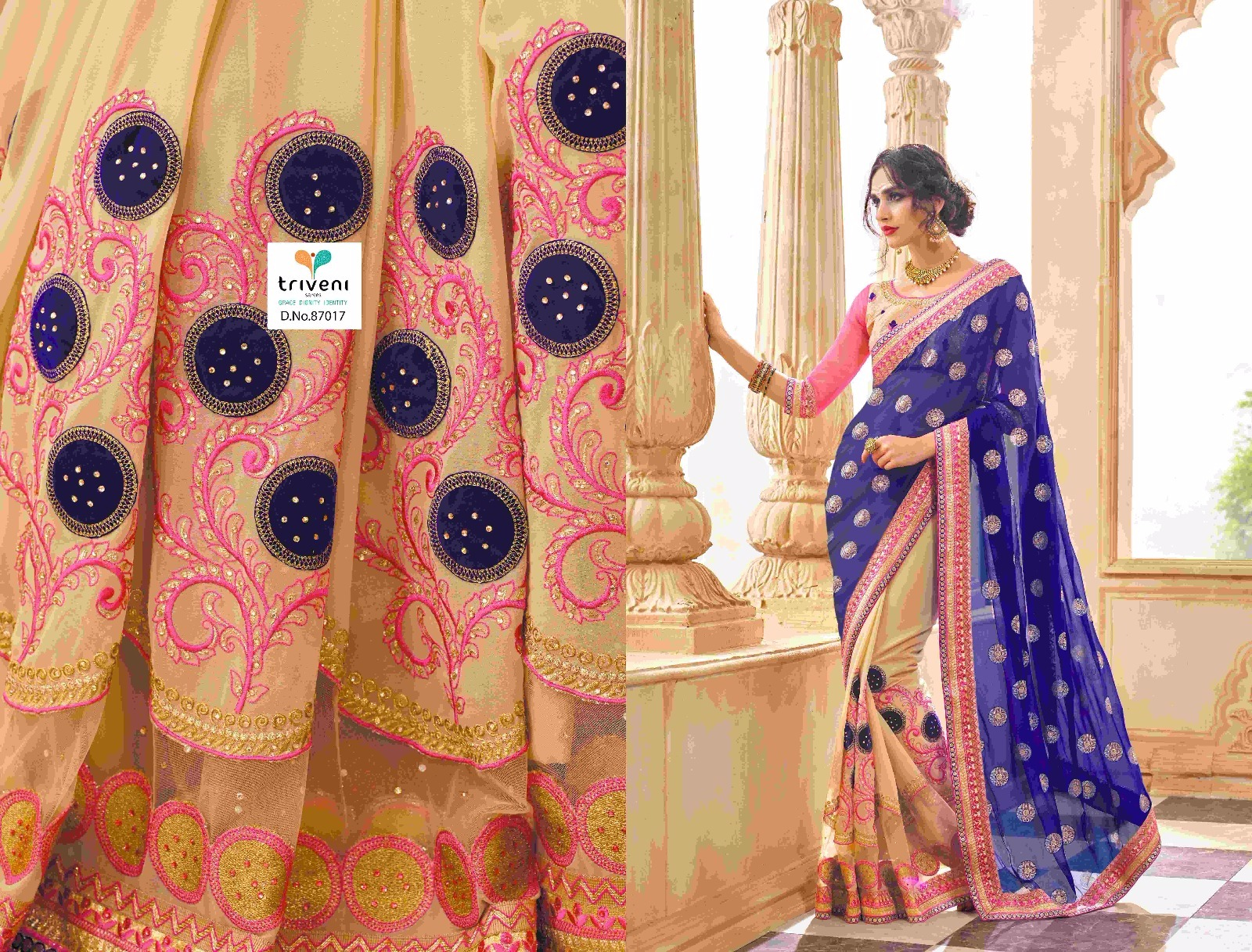 Kalpana Vol 4 – Very Beautiful And Heavy Embroidered Designer Saree