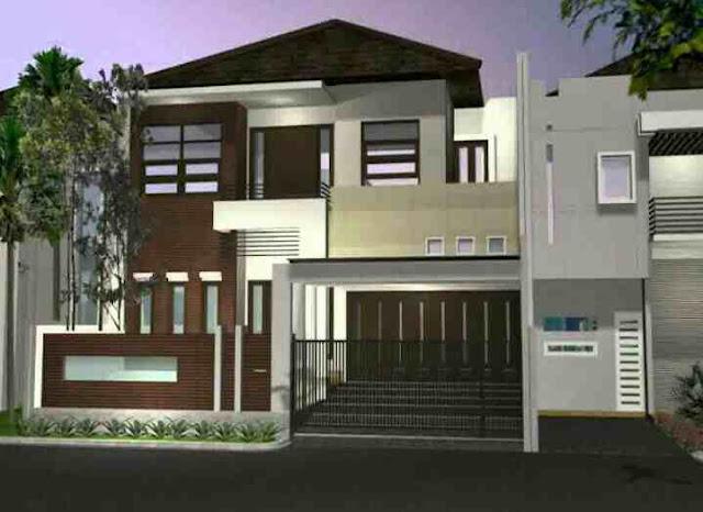 Model Rumah Minimalis 2 Lantai Tampak Depan MODERN