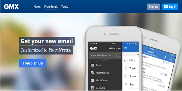 Situs Email Gratis GMX