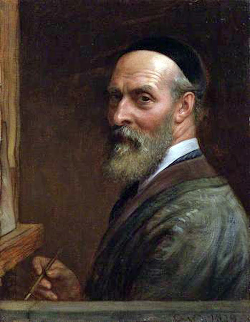 Charles West Cope, Self Portrait, Portraits of Painters, Fine arts, West Cope, Portraits of painters blog, Paintings of Charles West Cope,, Painter  Charles West Cope