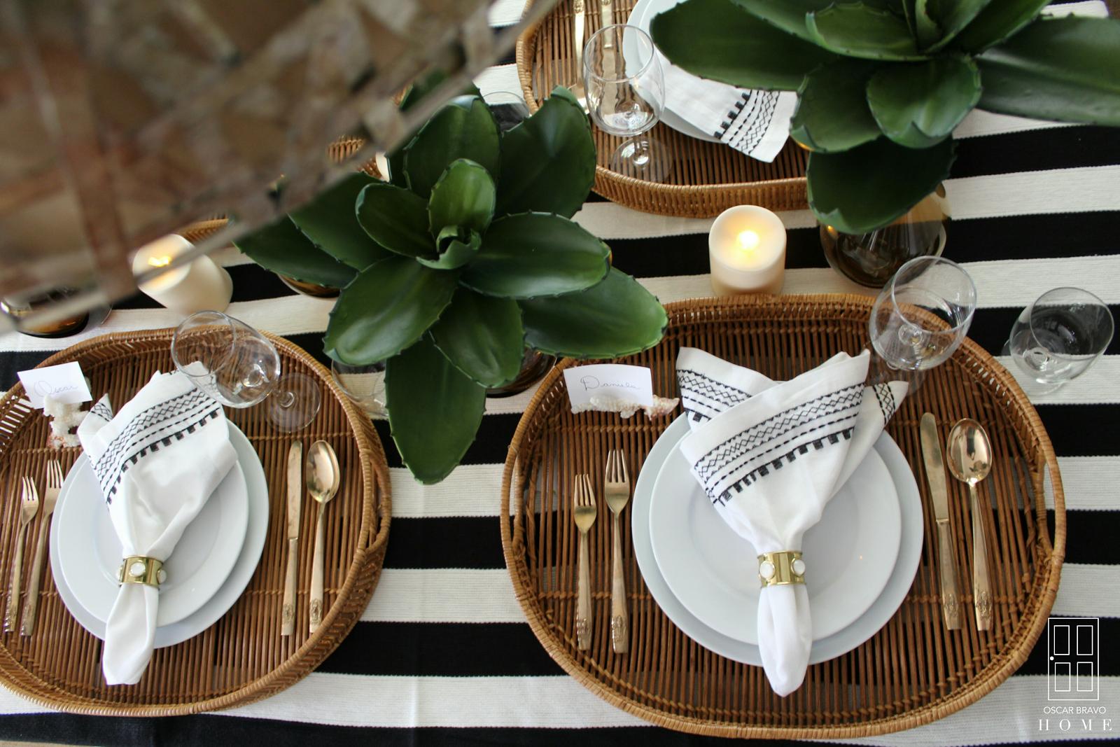 oscar bravo home: summer table setting
