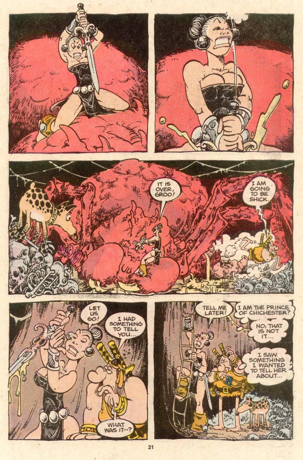 Read online Sergio Aragonés Groo the Wanderer comic -  Issue #52 - 22